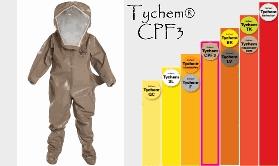 Dupont Tychem CPF3 Hazmat Suit Protection Chart