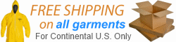 Free Shipping on all hazmat suit garments